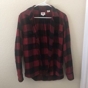 Black and red men's flannel